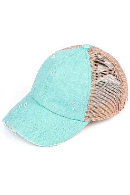 Kid's CC Pony Hat {mint}