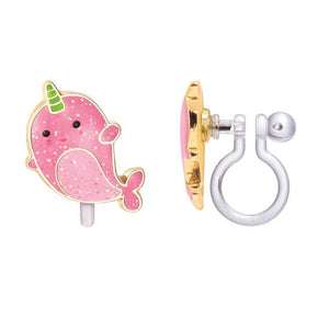Clip-On Earrings {Narwhal}