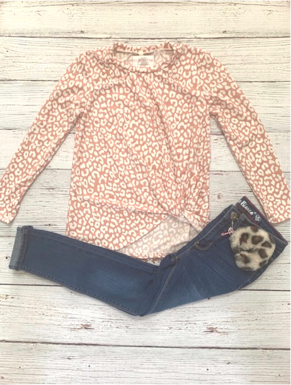 Mauve Leopard Side Knot Top