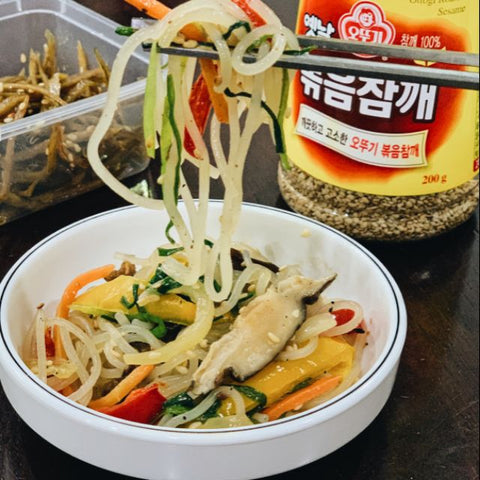 Korean Mama Homemade Stir Fried Glass Noodle (Japchae)
