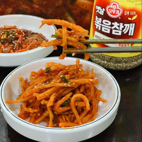 Korean Mama Homemade Sweet &Spicy Squid Strips ( Ojingeochae Muchim )