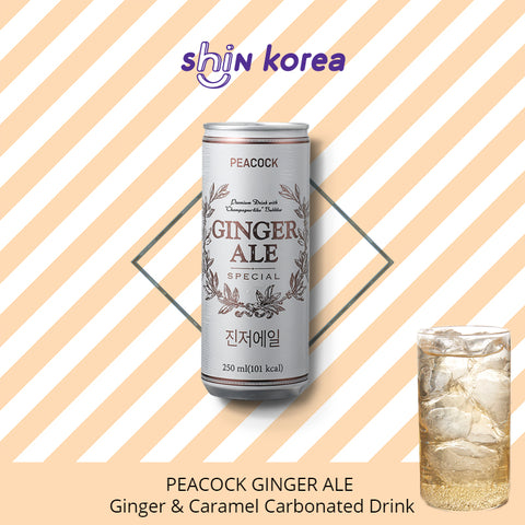 Peacock Ginger Ale - Ginger & Caramel Carbonated Drink