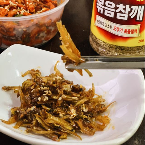 Korean Mama Homemade Stir-Fried Anchovies (Myulchi Bokkeum)
