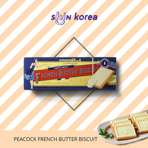 Peacock White Choco French Butter Biscuit