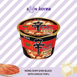 Nong Shim Shin Black Spicy Noodle with Kimchi & Tofu