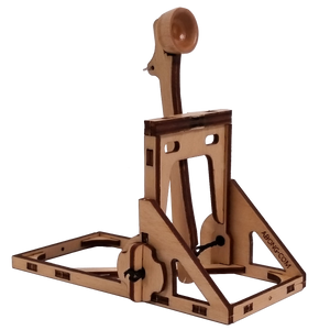 Three quarter view of catapult