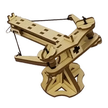 Load image into Gallery viewer, 1/4 facing view of assembled mini ballista. On a blank background.