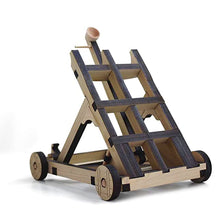 Load image into Gallery viewer, 1/4 position view of assembled catapult on blank background.