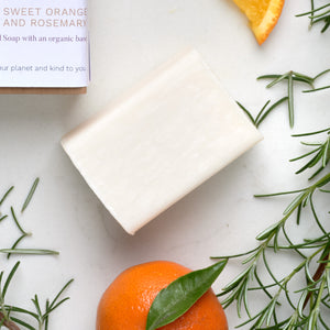 01 | Sweet Orange and Rosemary Organic Cold Pressed Soap