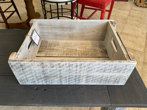 White Washed Wood Shelves or Crate (Canadian Made)