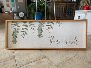 THIS IS US wood framed and textured Wall Art