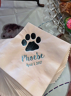 Personalized Paw Napkins