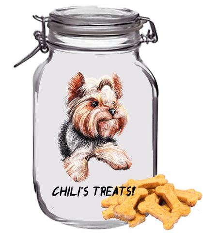 Personalized Dog Treat Jar