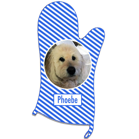 Personalized Stripes Oven Mitt