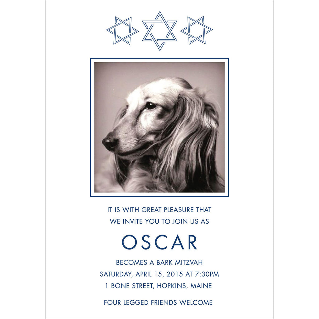 Pet Bar Mitzvah Invitation