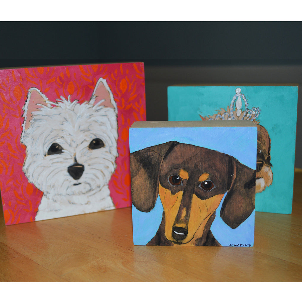 Hand Painted Pet Portrait Wall Art