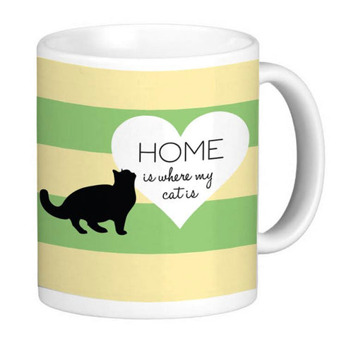 Cat Lover's Coffee Mug - Home Is Where My Cat Is