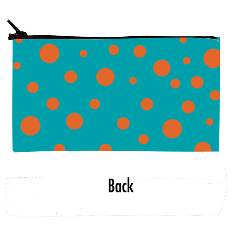 Cosmetic Bag Orange Polka Dots