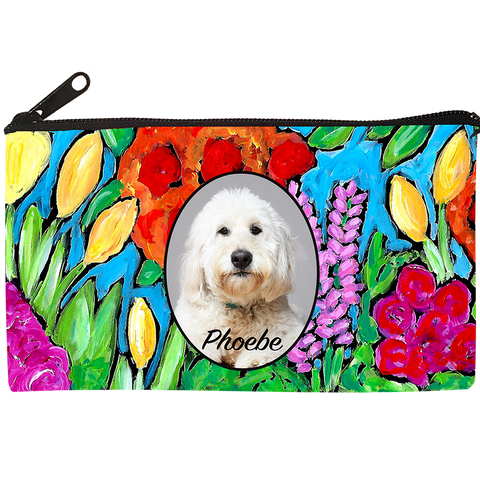Flower Design Cosmetic Bag