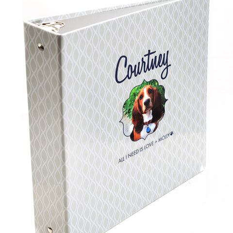 Personalized Pet 3 Ring  Binder