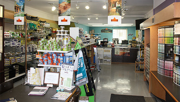 Inside Monarch Paint's North York Paint store in Toronto