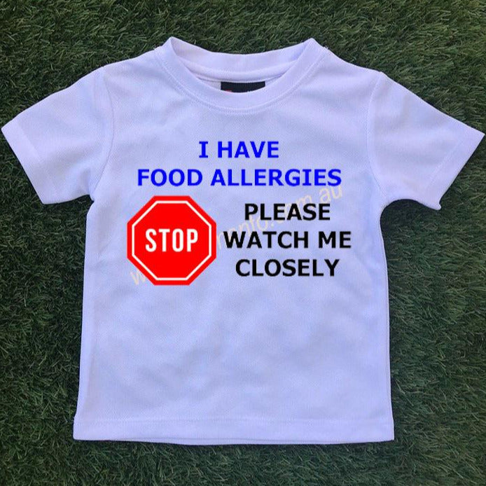 Allergy Alert T-Shirt - Stop - Please watch me closely