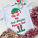 Allergy Alert T-Shirt - Elf T-Shirt