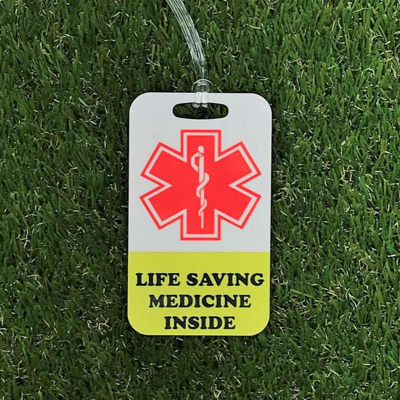 Medicine Inside bag tag