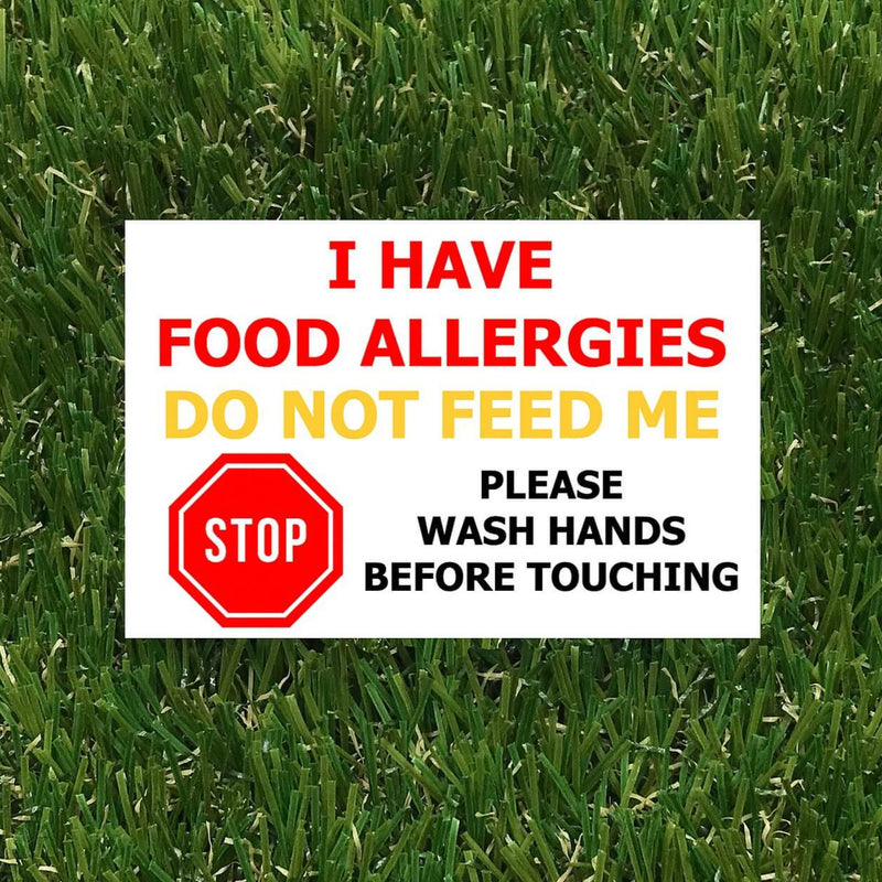 Allergy Badge - Wash hands before touching