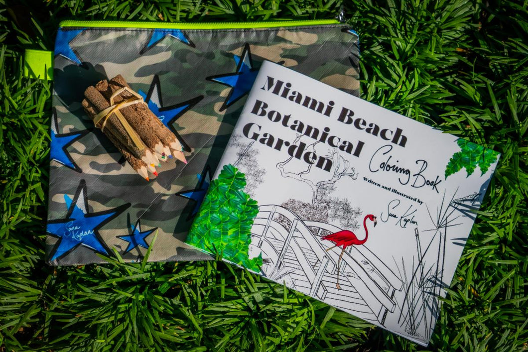 Miami Beach Botanical Garden Coloring Book Set