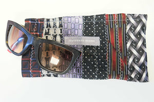 """Our Daddy's Ties"" 100% Silk Glasses Case  made from vintage ties."