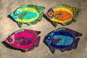 Sequined Scales Fish Coin Purse