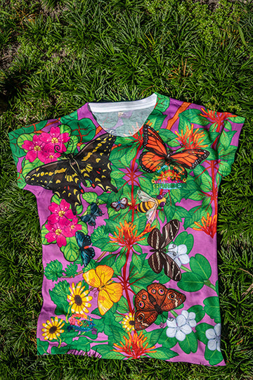 Butterfly T-shirt by local artist Valentina from Kawaii Universe