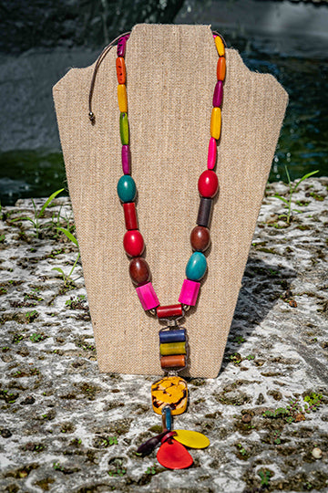 Long Multi Colored  Necklace