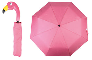 Compact Flamingo Bird Handle Umbrella