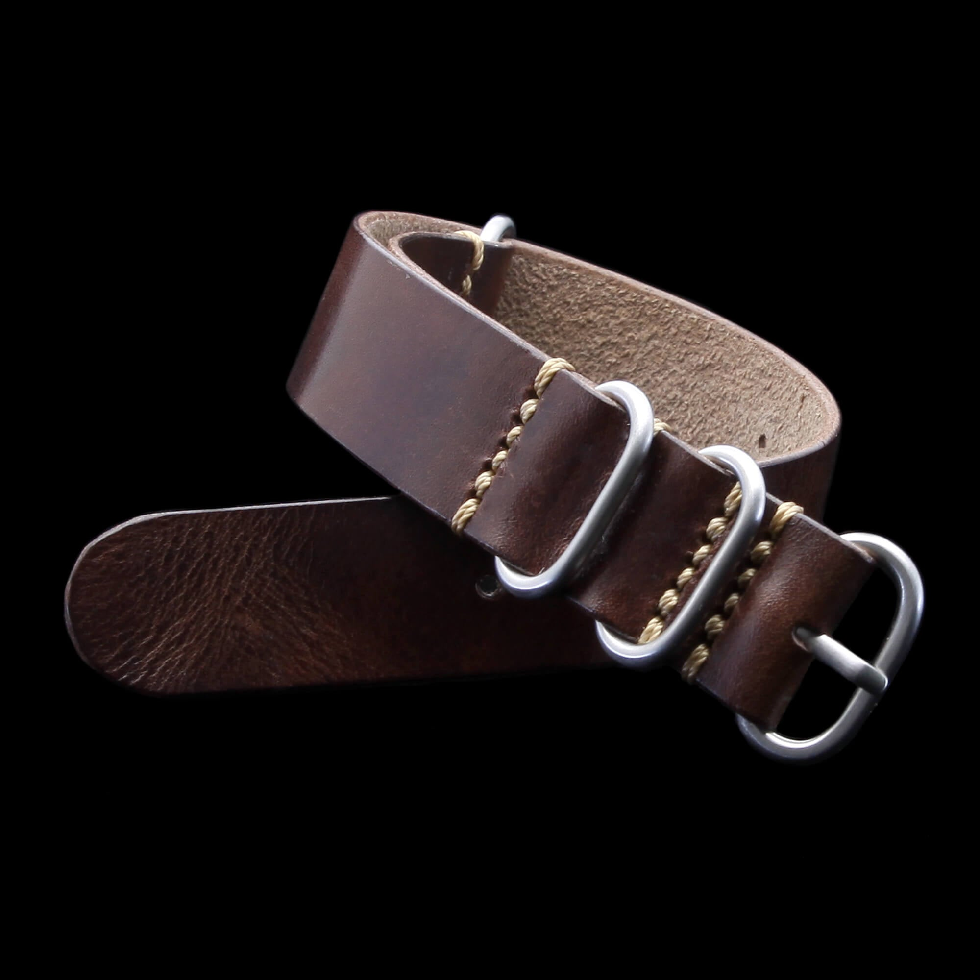 Leather Watch Strap, 4-Ring Military 103