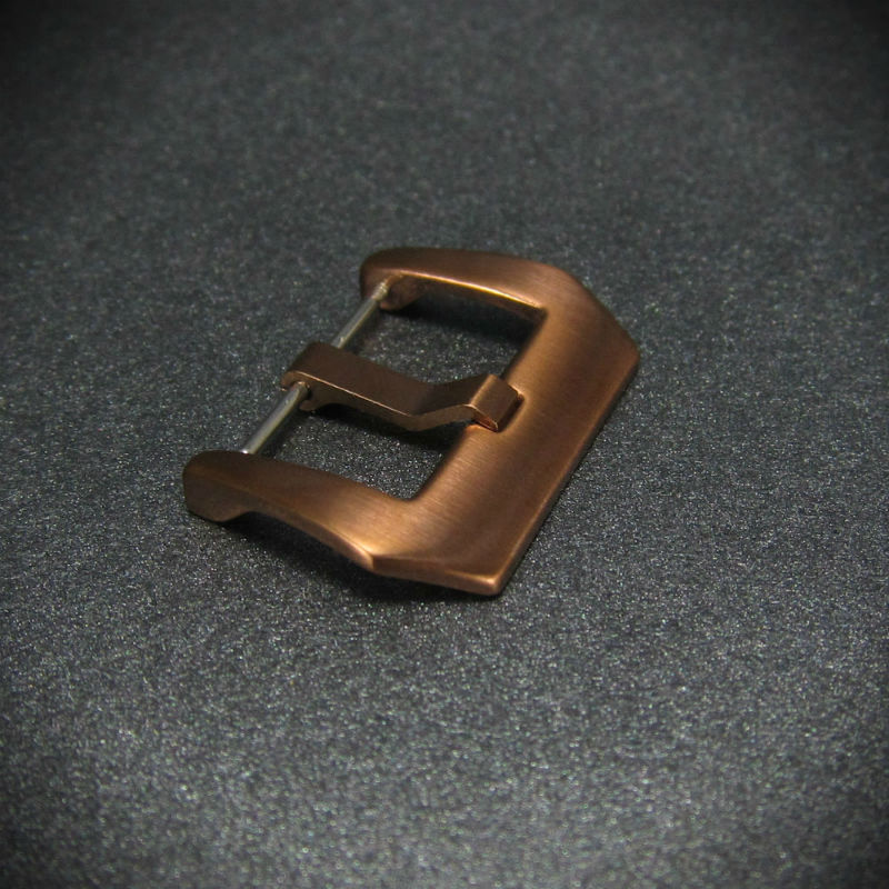 Brushed Bronze Pre-V Spring Bar Steel Watch Buckle