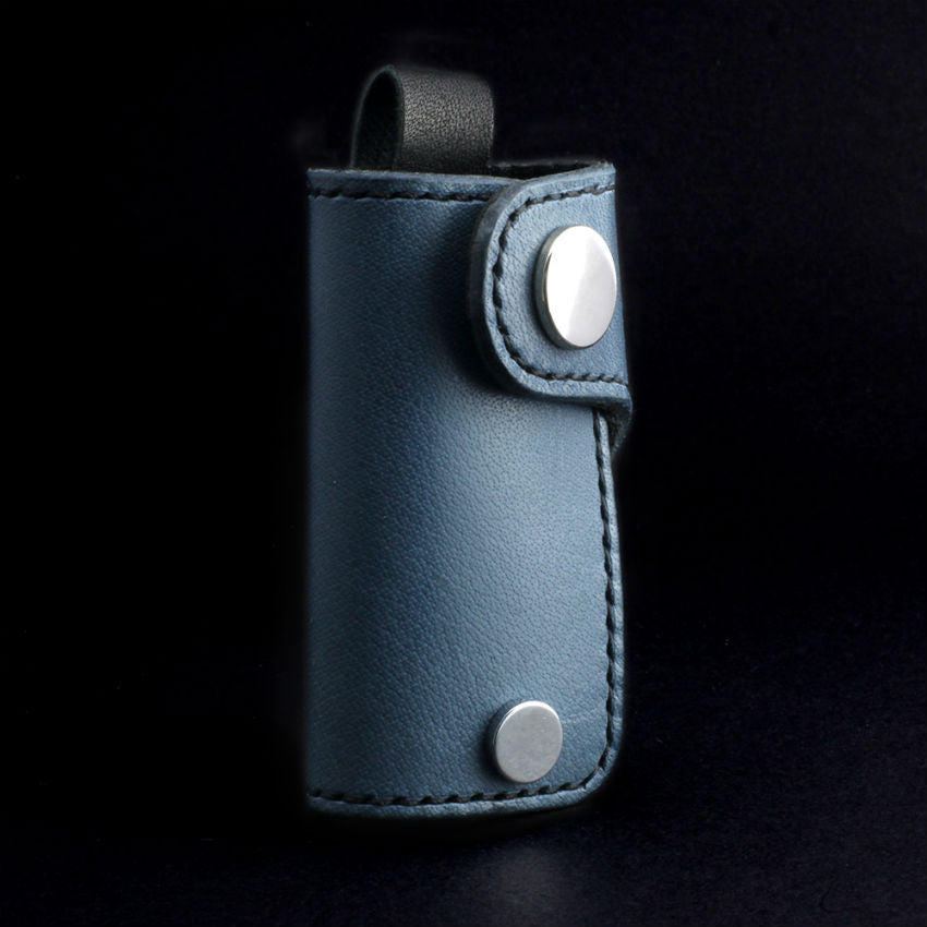 Glaucous Black Leather Key Holder