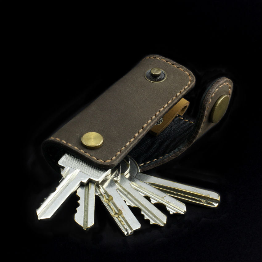Brown Nubuck Leather Key Holder