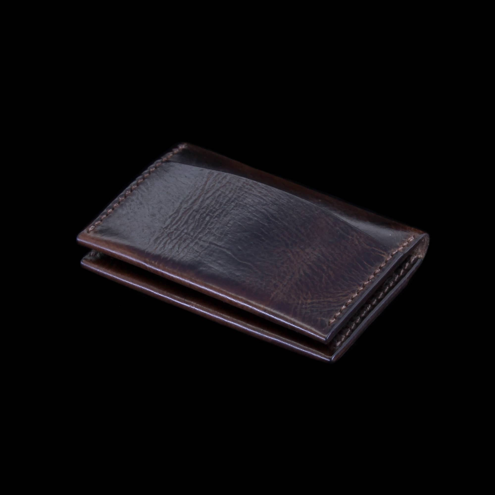 Leather Card Wallet, Military 103 | Minimalist | Cozy Handmade