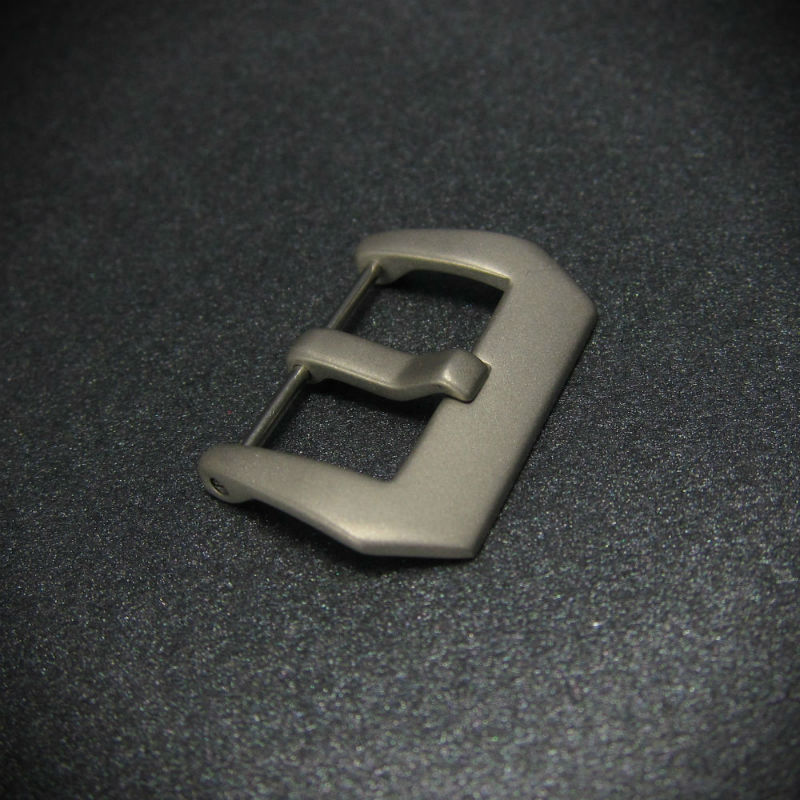 Matte Steel Pre-V Screw-In Steel Watch Buckle