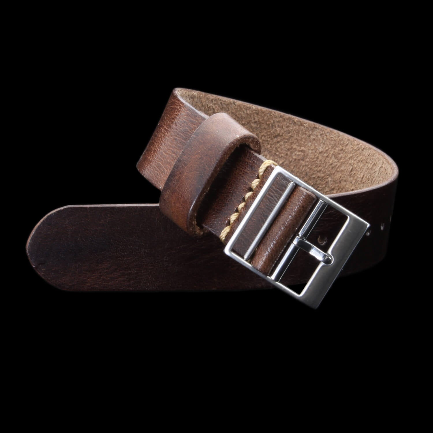 Leather Watch Strap, Classic RAF II Military 103 | Ladder Buckle