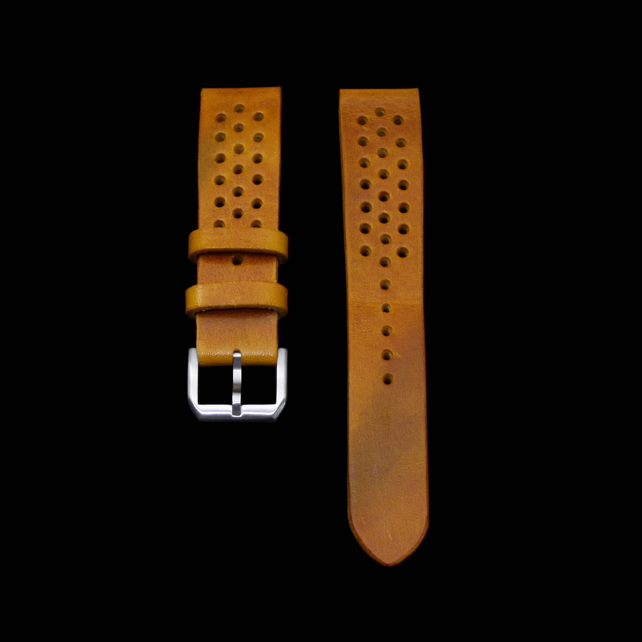 Rally Leather Watch Strap, Military 104 | Stitch-less | Cozy Handmade