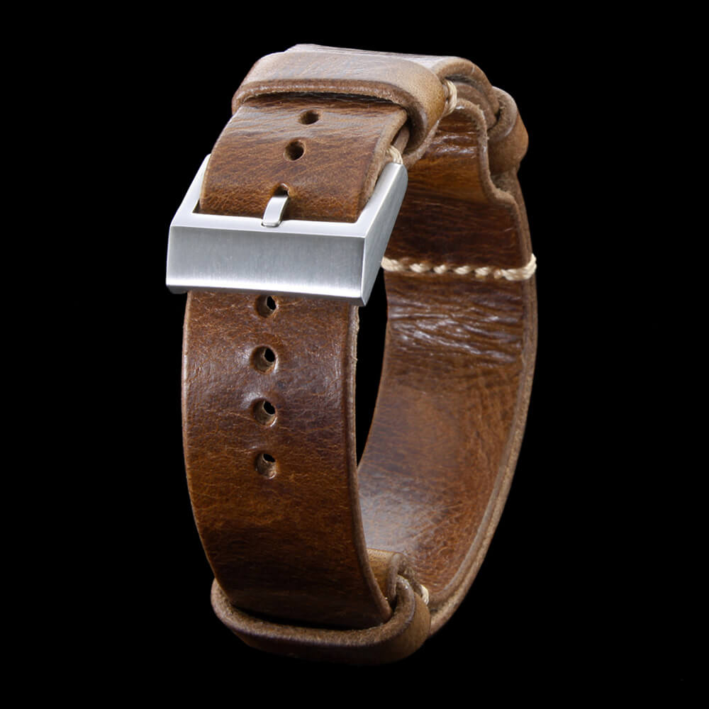 Leather NATO Strap, NAT2 Military 102