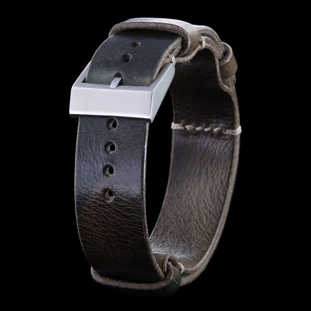 NAT2 Leather Watch Strap, Military 107