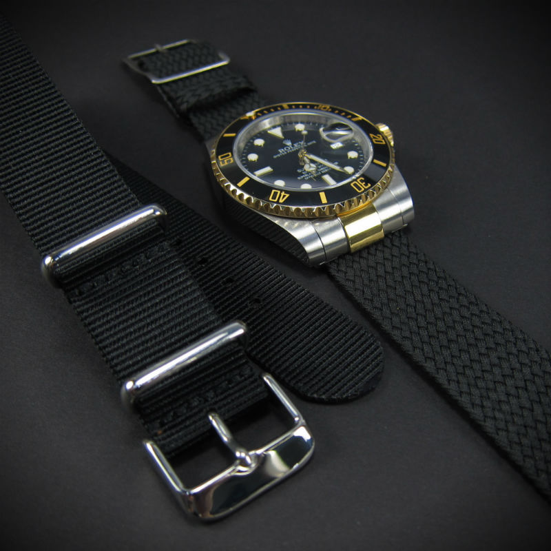 Custom 2-Tone ROLEX END LINK for G10 NATO / Perlon Straps