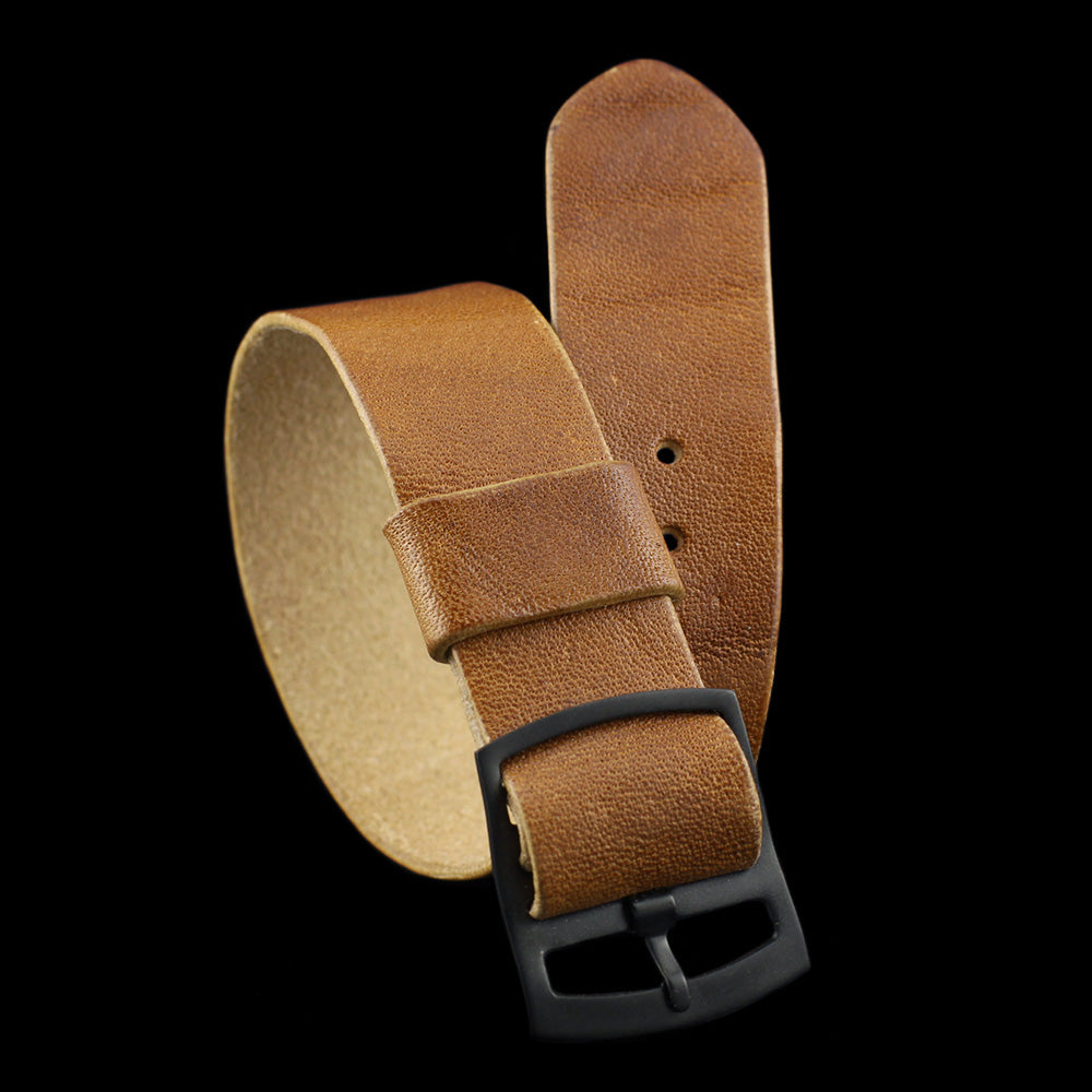 Adjustable One-Piece Leather Watch Strap, Vintage 401 | Cozy Handmade