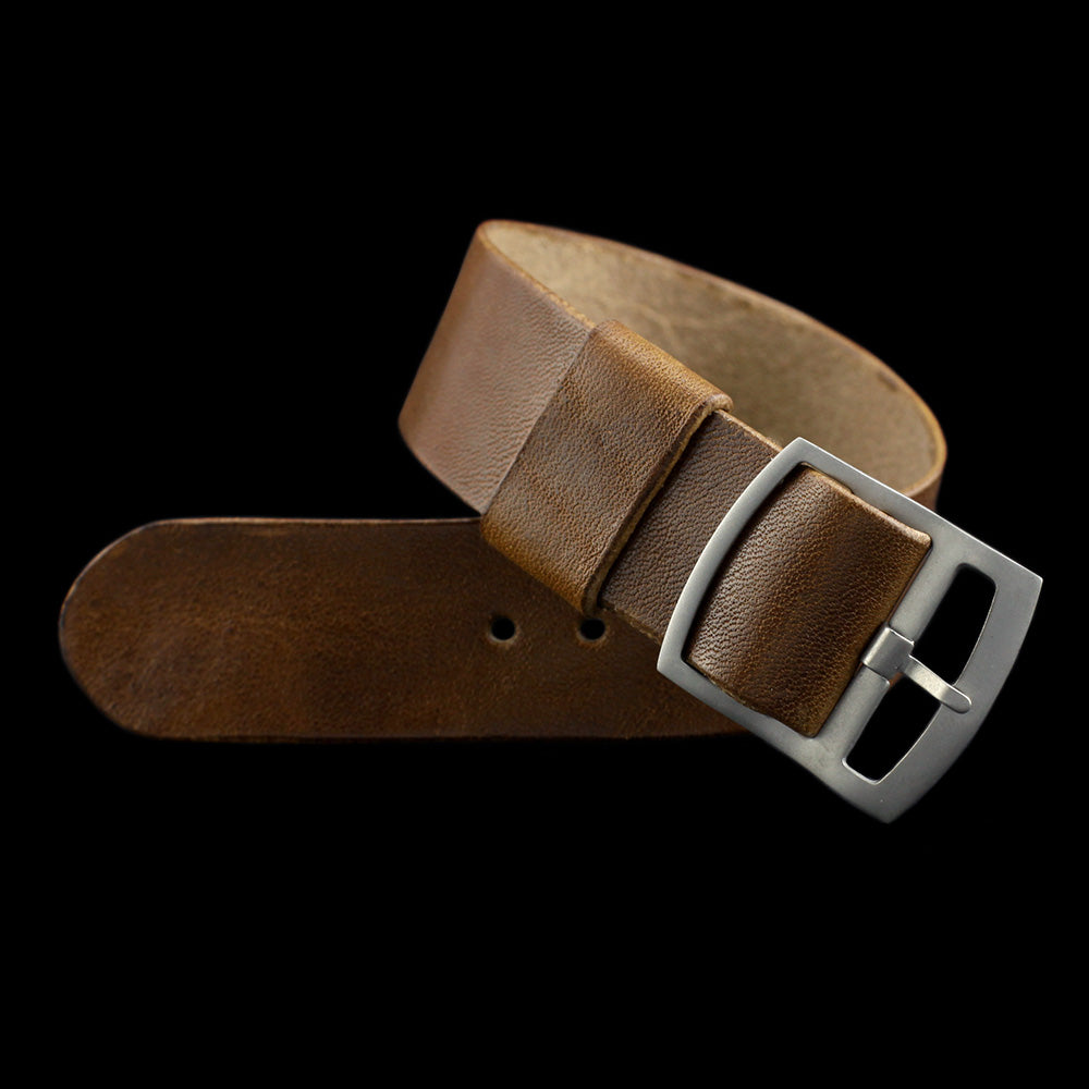Adjustable One-Piece Leather Watch Strap, Vintage 402 | Cozy Handmade