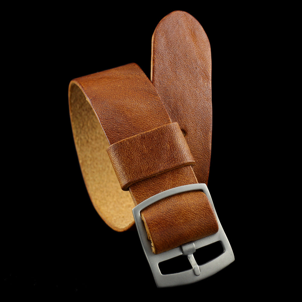 Adjustable One-Piece Leather Watch Strap, Vintage 403 | Cozy Handmade