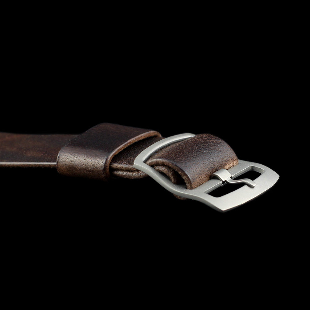 Adjustable One-Piece Leather Watch Strap, Vintage 405 | Cozy Handmade